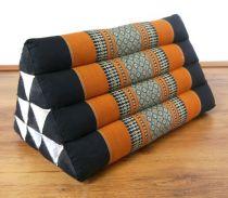 Kapok Dreieckskissen, Rückenlehne  *schwarz/orange*