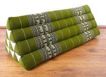 Kapok Dreieckskissen, Rückenlehne  *smaragtgrün/Elefanten*  extrabreit