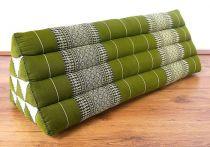 Kapok Dreieckskissen, Rückenlehne  *smaragtgrün*  extrabreit
