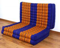 Klappmatratze, Gästematratze, Faltmatratze *blau - gelb* 80cm breit