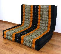 Kapok Klappmatratze, Gästematratze  *schwarz - orange*