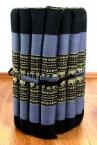 Kapok Rollmatte, Liegematte  *blau - Elefanten*  Gr. S