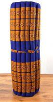 Kapok Rollmatte, Liegematte  *blau - gelb*  Gr. L