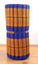 Kapok Rollmatte, Liegematte  *blau - gelb*  Gr. M