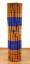 Kapok Rollmatte, Liegematte *blau - gelb* Gr. XL