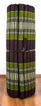 Kapok Rollmatte, Liegematte  *braun - smaragtgrün*  Gr. L