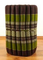 Kapok Rollmatte, Liegematte  *braun - smaragtgrün*  Gr. S