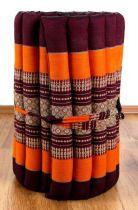 Kapok Rollmatte, Liegematte  *orange*  Gr. S