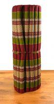 Kapok Rollmatte, Liegematte  *rot - smaragtgrün*  Gr. L