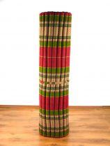 Kapok Rollmatte, Liegematte *rot - smaragtgrün* Gr. XL