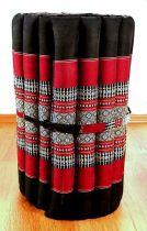 Kapok Rollmatte, Liegematte  *schwarz - rot*  Gr. S