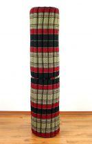 Kapok Rollmatte, Liegematte *schwarz - rot* Gr. XL
