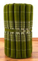 Kapok Rollmatte, Liegematte  *smaragtgrün - Elefanten*  Gr. S