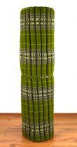 Kapok Rollmatte, Liegematte *smaragtgrün - Elefanten* Gr. XL