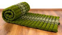 Kapok Rollmatte, Liegematte  *smaragtgrün*  Gr. S