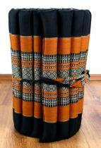 Kapok Rollmatte  *schwarz / orange*  Gr. S