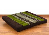 Sitzkissen, Bodenkissen *braun - grün*