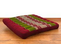 Sitzkissen, Bodenkissen *rot - grün*