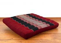 Sitzkissen, Bodenkissen *rot - schwarz*