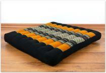 Sitzkissen, Bodenkissen *schwarz - orange*