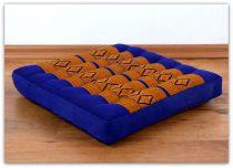 Sitzkissen, Stuhlkissen  *blau - gelb*