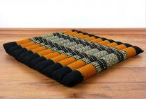 Steppkissen, Boden- bzw. Stuhlkissen *schwarz - orange*