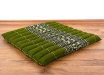 Steppkissen, Boden- bzw. Stuhlkissen *smaragtgrün - Elefanten*
