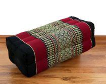 Stützkissen / Yogakissen *schwarz - rot*