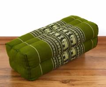 Stützkissen / Yogakissen *smaragtgrün - Elefanten*