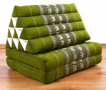 Thaikissen 2 Auflagen  *smaragtgrün - Elefanten*