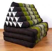 Thaikissen, XXL Dreieck *smaragtgrün/braun*
