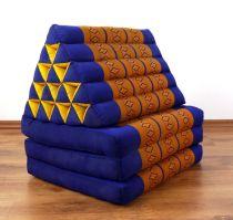 Thaikissen, XXL Dreieck   *blau - gelb*