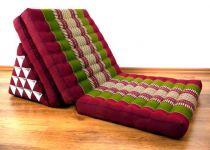 Thaikissen, XXL Dreieck  *rot / grün*