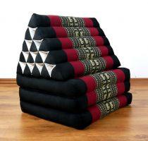 Thaikissen, XXL Dreieck  *schwarz / Elefanten*