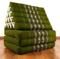 Thaikissen, XXL Dreieck  *smaragtgrün / Elefanten*