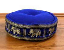 Zafukissen, Meditationskissen  *deepblue - Elefanten*
