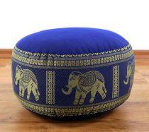 Zafukissen, Meditationskissen  *blau - Elefanten*  klein, mit Tragegriff