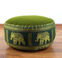 Zafukissen, Meditationskissen  *grün - Elefanten*  klein, mit Tragegriff