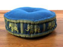 Zafukissen, Meditationskissen  *hellblau - Elefanten*
