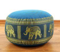 Zafukissen, Meditationskissen  *hellblau - Elefanten*  klein, mit Tragegriff
