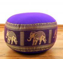 Zafukissen, Meditationskissen  *lila- Elefanten*  klein, mit Tragegriff