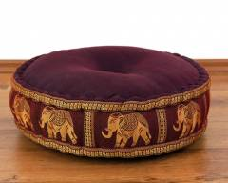 Zafukissen, Meditationskissen  *weinrot - Elefanten*