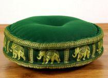 Zafukissen, Meditationskissen  *wiesengrün - Elefanten*